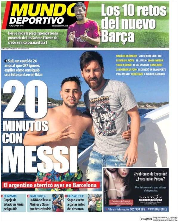 ហេតុតែចង់ជួប! អ្នកគាំទ្រម្នាក់ សុខចិត្តហែលទឹក ជាង១គីឡូម៉ែត មកជួប Messi ដល់លើទូក លទ្ធផលចុងក្រោយ...